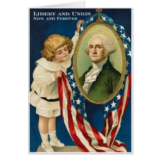 Liberty And Union Greeting Card