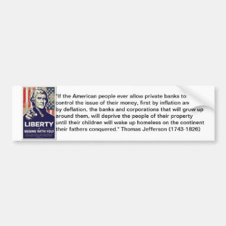 Liberty Anti Federal Reserve Sticker