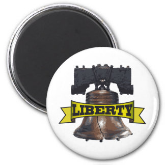Liberty Bell 6 Cm Round Magnet