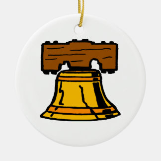 Liberty Bell Double-Sided Ceramic Round Christmas Ornament