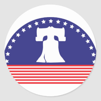 liberty bell flag stickers