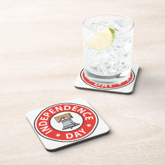 Liberty Bell Independence Day Drink Coasters