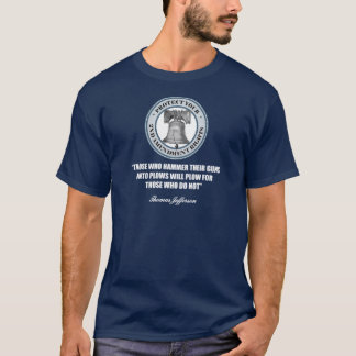 Liberty Bell -Jefferson 2nd Amendment Quote T-Shirt