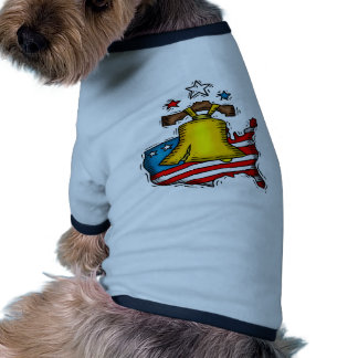 Liberty Bell Patriotic Ringer Dog Shirt