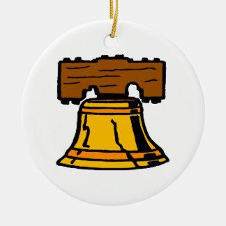 Liberty Bell Round Ceramic Decoration