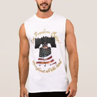 Liberty Bell w/American Flag - Let Freedom Ring Sleeveless T-shirt