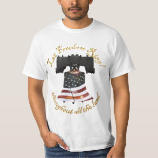 Liberty Bell w/American Flag - Let Freedom Ring Tshirts