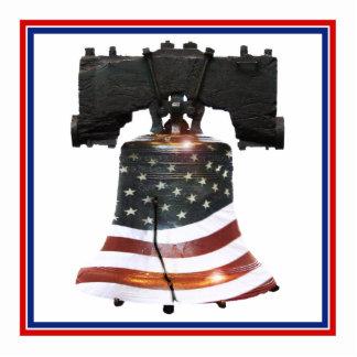 Liberty Bell w/American Flag Photo Cutout