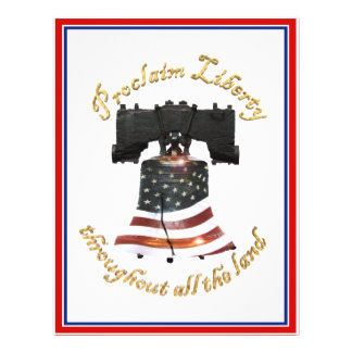 Liberty Bell w American Flag - Proclaim Liberty Full Color Flyer