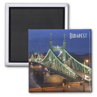 Liberty Bridge by night Fridge Magnets