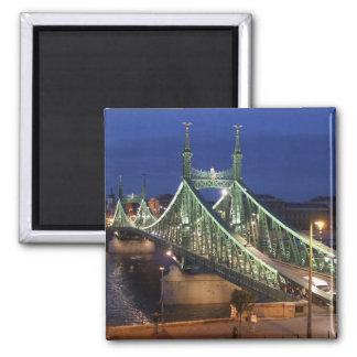 Liberty Bridge by night Refrigerator Magnet