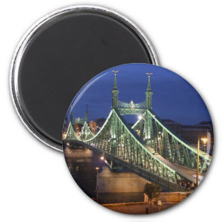Liberty Bridge by night Refrigerator Magnets