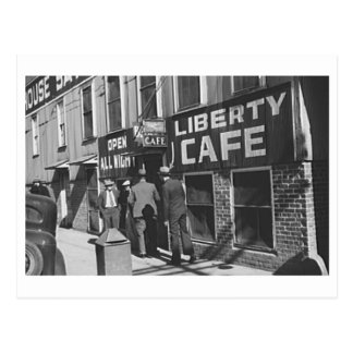 Liberty Cafe Vintage 1939 Restaurant Photo Postcard