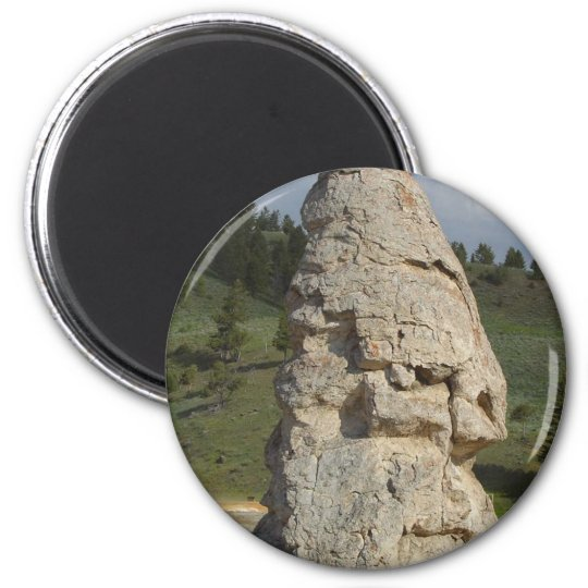 Liberty Cap Yellowstone 6 Cm Round Magnet