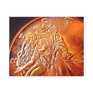 Liberty Coin Canvas Print
