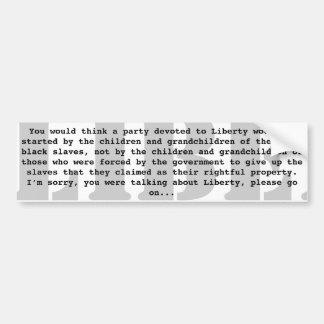 Liberty Delusion B&W Bumper Sticker