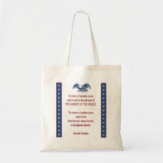 liberty eagle hamilton budget tote bag