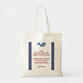 liberty eagle madison budget tote bag