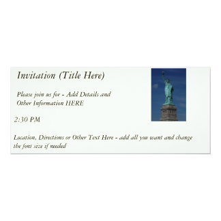 Liberty Enlightening the World - Statue of Liberty 10 Cm X 24 Cm Invitation Card