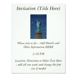 Liberty Enlightening the World - Statue of Liberty 11 Cm X 14 Cm Invitation Card