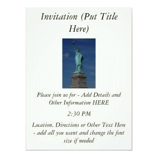 Liberty Enlightening the World - Statue of Liberty 17 Cm X 22 Cm Invitation Card