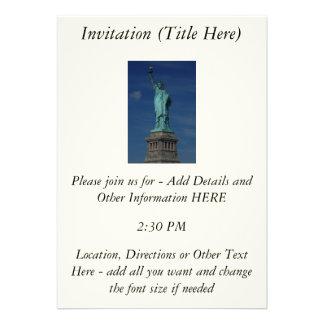 Liberty Enlightening the World - Statue of Liberty Personalized Invitation