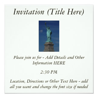Liberty Enlightening the World - Statue of Liberty 5.25x5.25 Square Paper Invitation Card