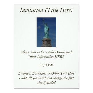 "Liberty Enlightening the World - Statue of Liberty 4.25"" X 5.5"" Invitation Card"