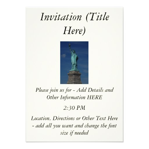 Liberty Enlightening the World - Statue of Liberty Personalized Announcements