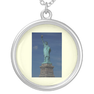 Liberty Enlightening the World - Statue of Liberty Round Pendant Necklace
