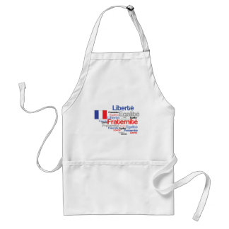 Liberty Equality Fraternity French Bastille Day Aprons