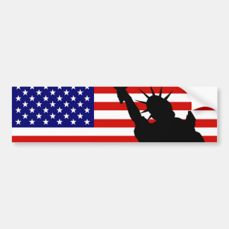 Liberty Flag Bumper Sticker