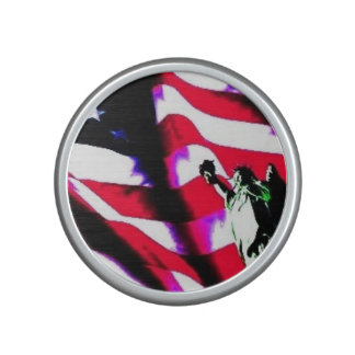 Liberty Flag painting on a Bumpster Speakers Bluetooth Speaker