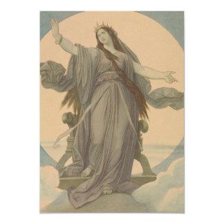 Liberty Goddess 13 Cm X 18 Cm Invitation Card