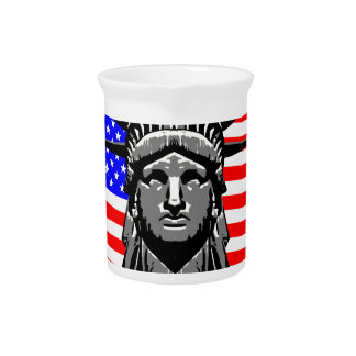 Liberty Head Over Flag Pitcher