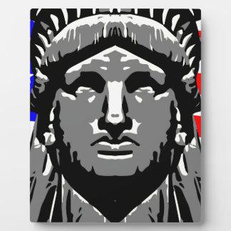 Liberty Head Over Flag Plaque