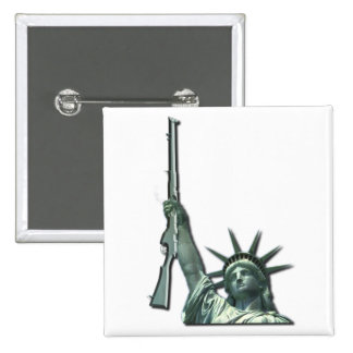 LIBERTY IN FIREARMS - 2ND AMENDMENT 15 CM SQUARE BADGE