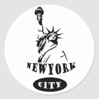 Liberty In new york city Classic Round Sticker