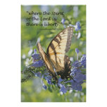Liberty in the Spirit Scripture Poster