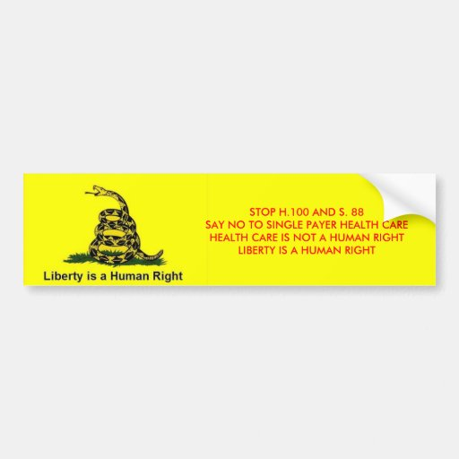 Liberty is a Human Right Bumper Sticker