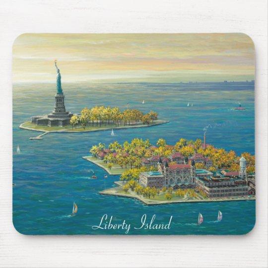 LIberty Island, New York Mouse Mat