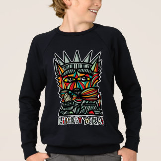 """Liberty Kat"" Boy's American Apparel Sweatshirt"
