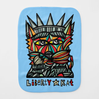 """Liberty Kat"" Burp Cloth"