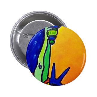 Liberty Lady 6 Cm Round Badge