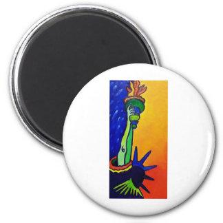 Liberty Lady 6 Cm Round Magnet