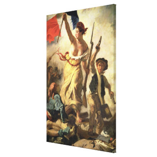 Liberty Leading the People, 28 July 1830 (oil on c Canvas Print