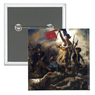 Liberty Leading the People 15 Cm Square Badge