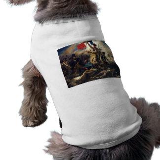 Liberty Leading the People by Eugene Delacroix Sleeveless Dog Shirt