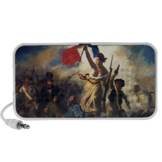 Liberty Leading the People by Eugene Delacroix Portable Speaker