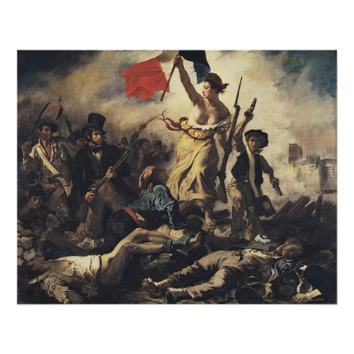 Liberty Leading the People by Eugene Delacroix Posters